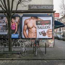 "Ist lecker (see more at Series ""Billboards-Advertising"")"