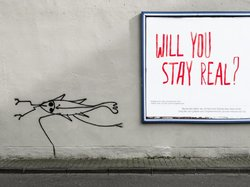 "Will you stay real? (see more at Series ""Billboards-Advertising"")"